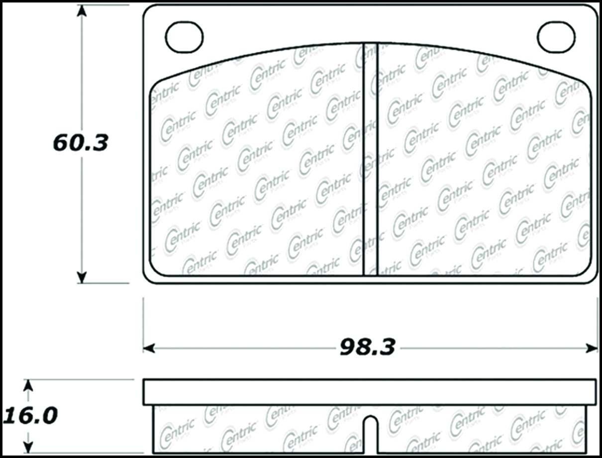 C-TEK BY CENTRIC - C-TEK Metallic Brake Pads (Front) - CTK 102.00430