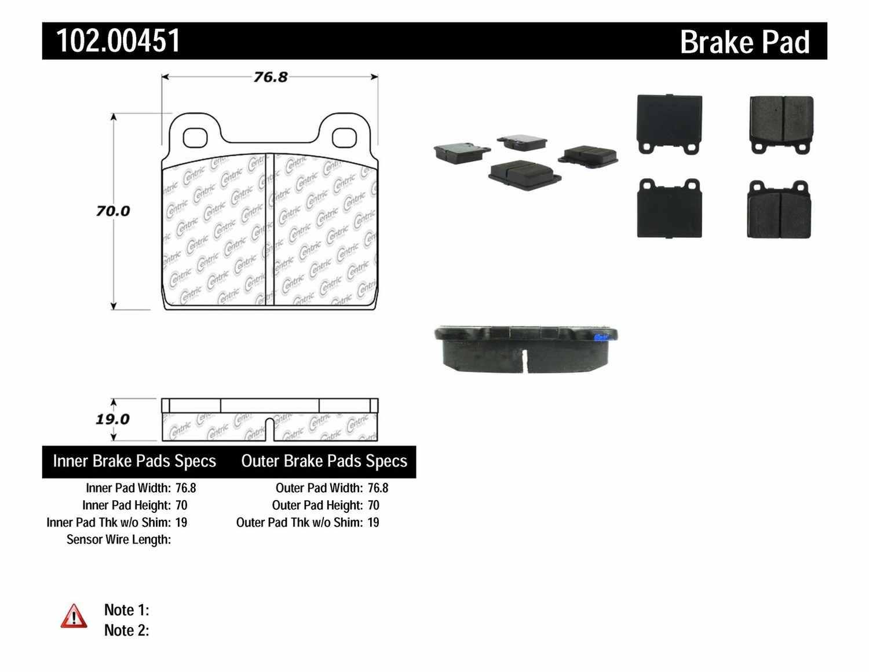 C-TEK BY CENTRIC - C-TEK Metallic Brake Pads - CTK 102.00451