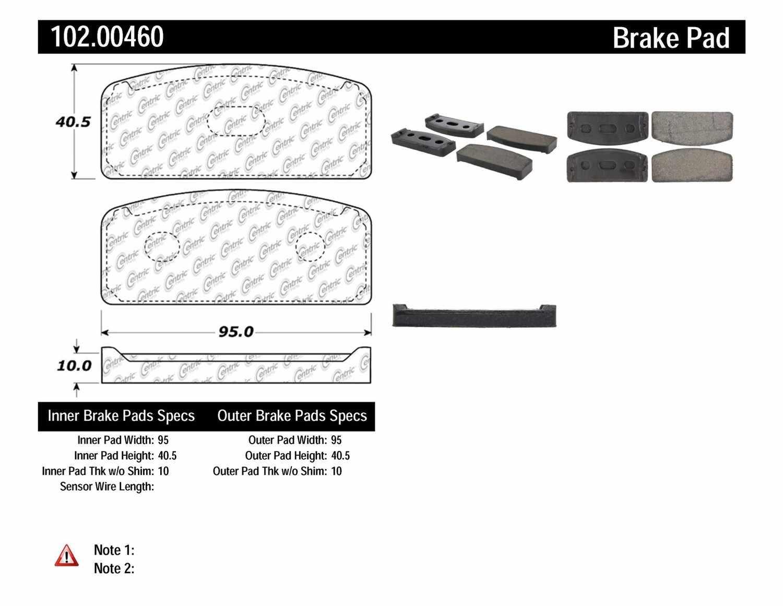 C-TEK BY CENTRIC - C-TEK Metallic Brake Pads-Preferred - CTK 102.00460