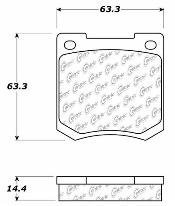 C-TEK BY CENTRIC - C-TEK Metallic Brake Pads-Preferred - CTK 102.00510