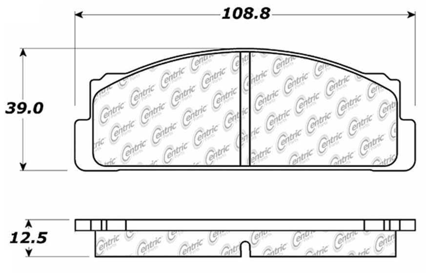 C-TEK BY CENTRIC - C-TEK Metallic Brake Pads-Preferred (Front) - CTK 102.00540