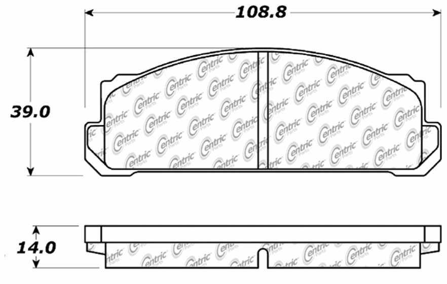 C-TEK BY CENTRIC - C-TEK Metallic Brake Pads-Preferred (Front) - CTK 102.00542