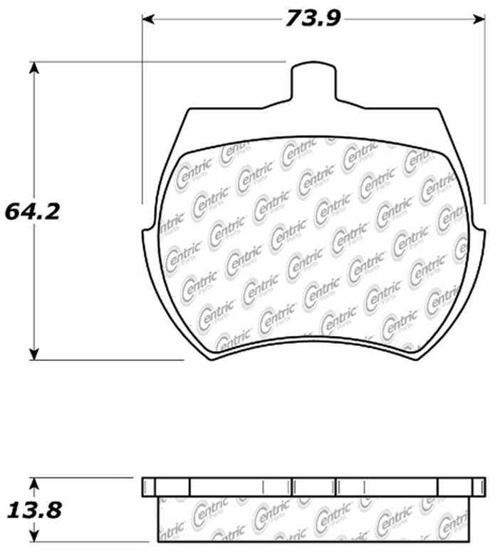 C-TEK BY CENTRIC - C-TEK Metallic Brake Pads-Preferred (Front) - CTK 102.00610
