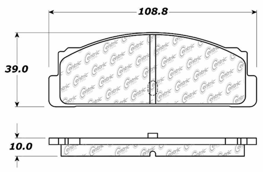 C-TEK BY CENTRIC - C-TEK Metallic Brake Pads-Preferred (Rear) - CTK 102.00710