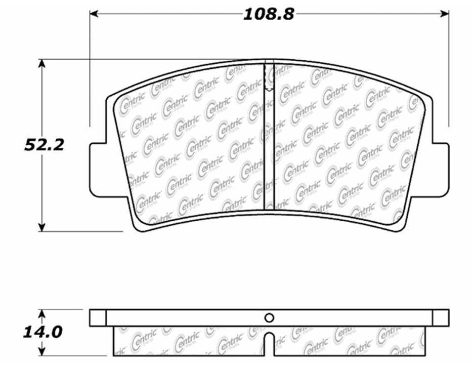 C-TEK BY CENTRIC - C-TEK Metallic Brake Pads (Front) - CTK 102.00760