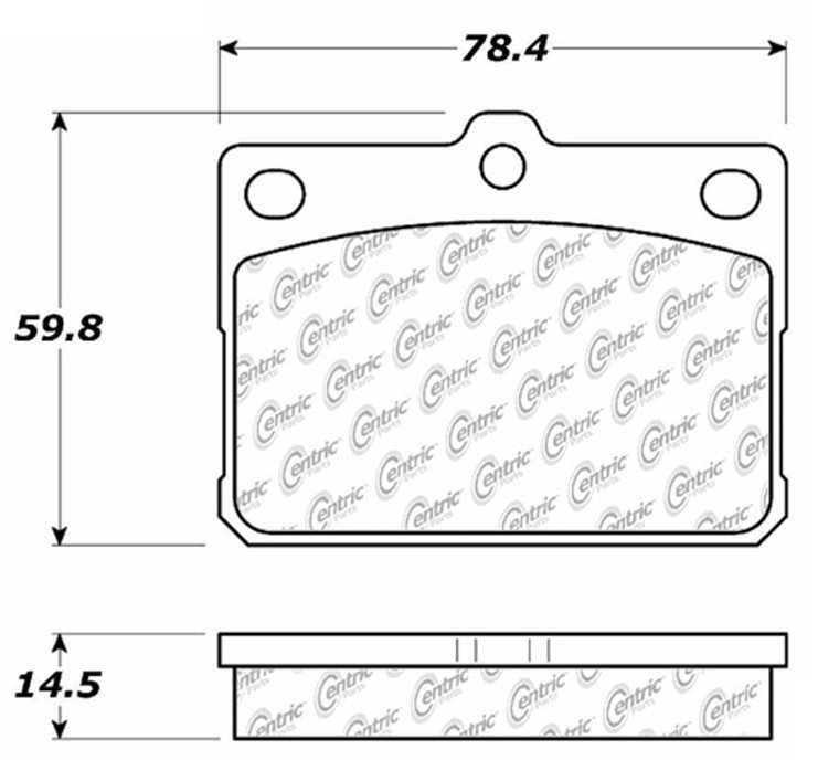 C-TEK BY CENTRIC - C-TEK Metallic Brake Pads (Front) - CTK 102.01010