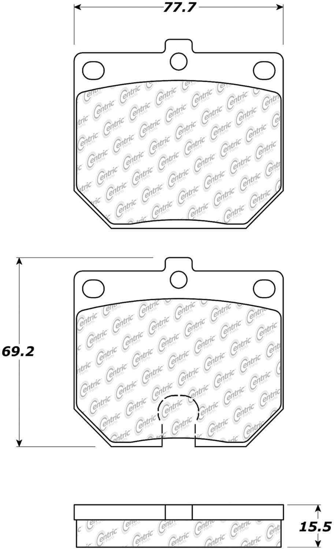 C-TEK BY CENTRIC - C-TEK Metallic Brake Pads (Front) - CTK 102.01140