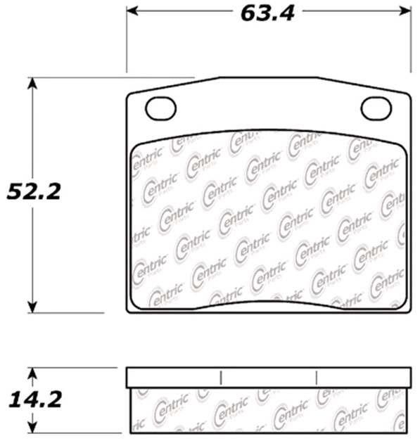 C-TEK BY CENTRIC - C-TEK Metallic Brake Pads (Front) - CTK 102.01170