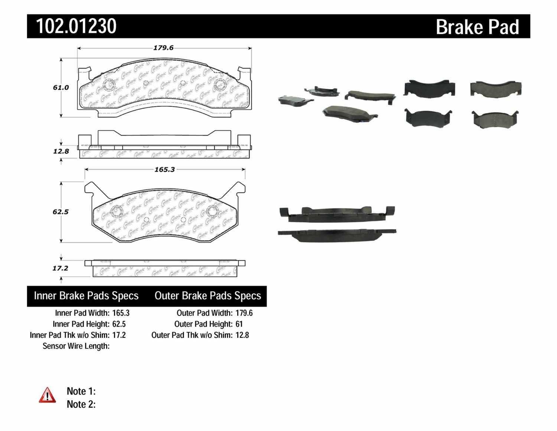 C-TEK BY CENTRIC - C-TEK Metallic Brake Pads - CTK 102.01230