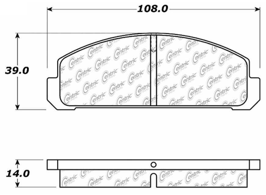 C-TEK BY CENTRIC - C-TEK Metallic Brake Pads-Preferred (Front) - CTK 102.01321