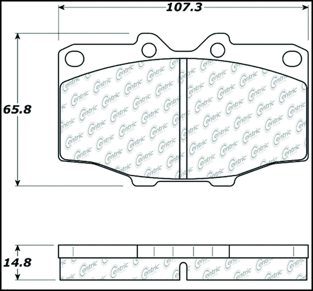 C-TEK BY CENTRIC - C-TEK Metallic Brake Pads (Front) - CTK 102.01370