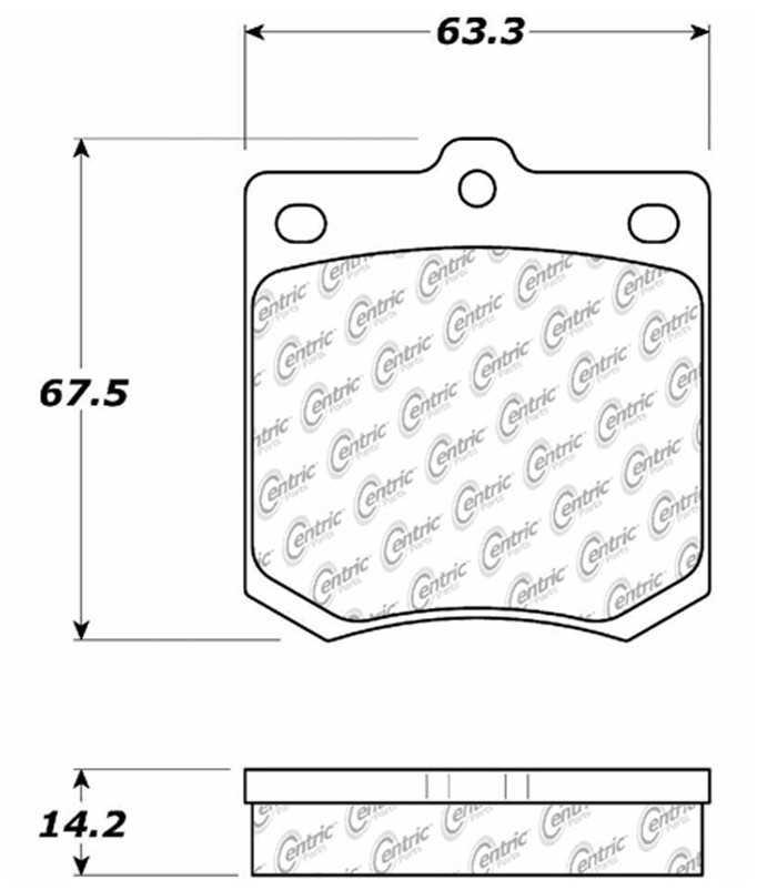 C-TEK BY CENTRIC - C-TEK Metallic Brake Pads-Preferred (Front) - CTK 102.01430