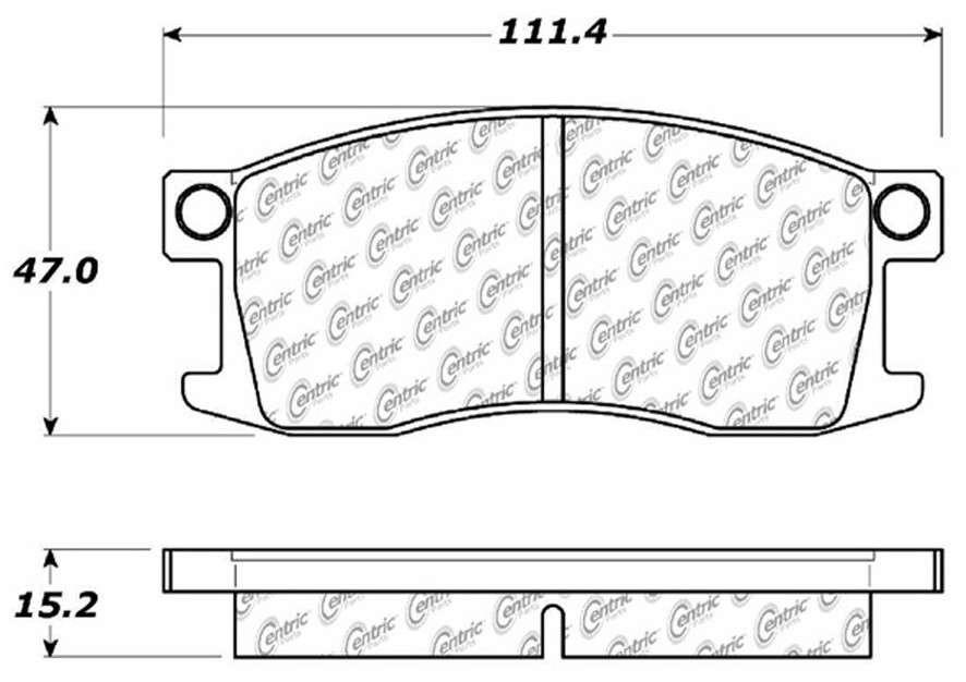 C-TEK BY CENTRIC - C-TEK Metallic Brake Pads-Preferred (Front) - CTK 102.01760