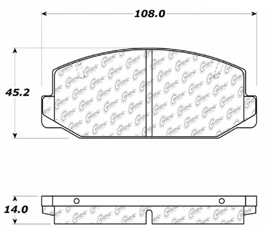 C-TEK BY CENTRIC - C-TEK Metallic Brake Pads-Preferred (Front) - CTK 102.01780
