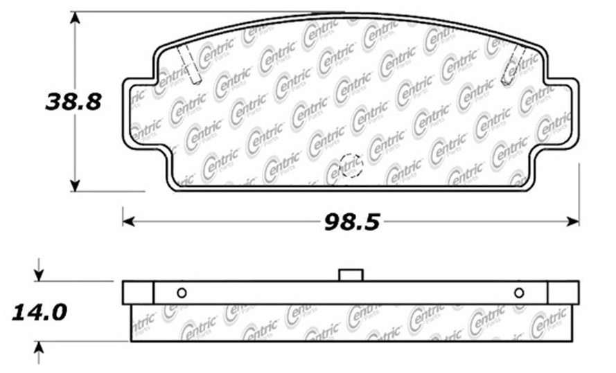 C-TEK BY CENTRIC - C-TEK Metallic Brake Pads-Preferred - CTK 102.01960