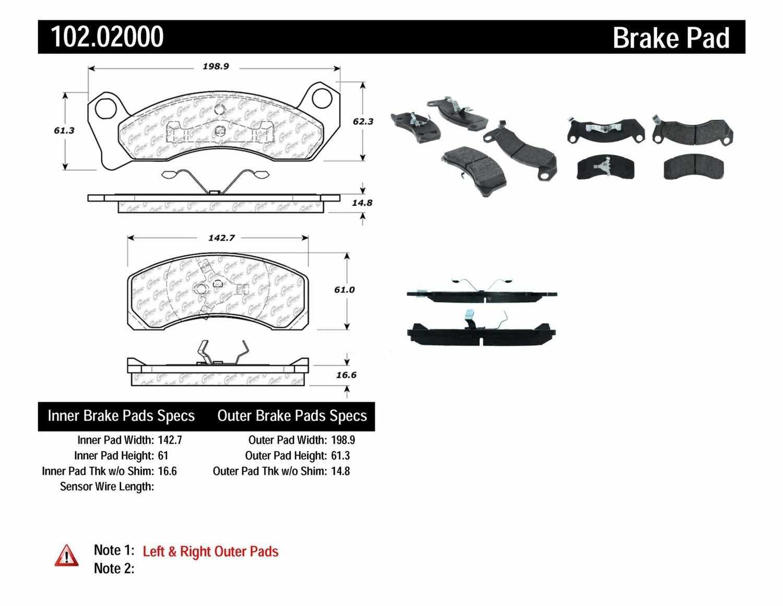 C-TEK BY CENTRIC - C-TEK Metallic Brake Pads - CTK 102.02000