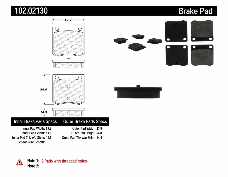 C-TEK BY CENTRIC - C-TEK Metallic Brake Pads-Preferred - CTK 102.02130