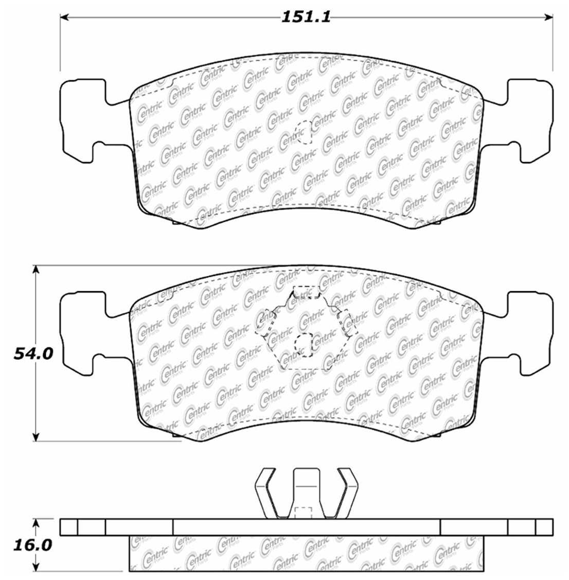 C-TEK BY CENTRIC - C-TEK Metallic Brake Pads-Preferred - CTK 102.02200