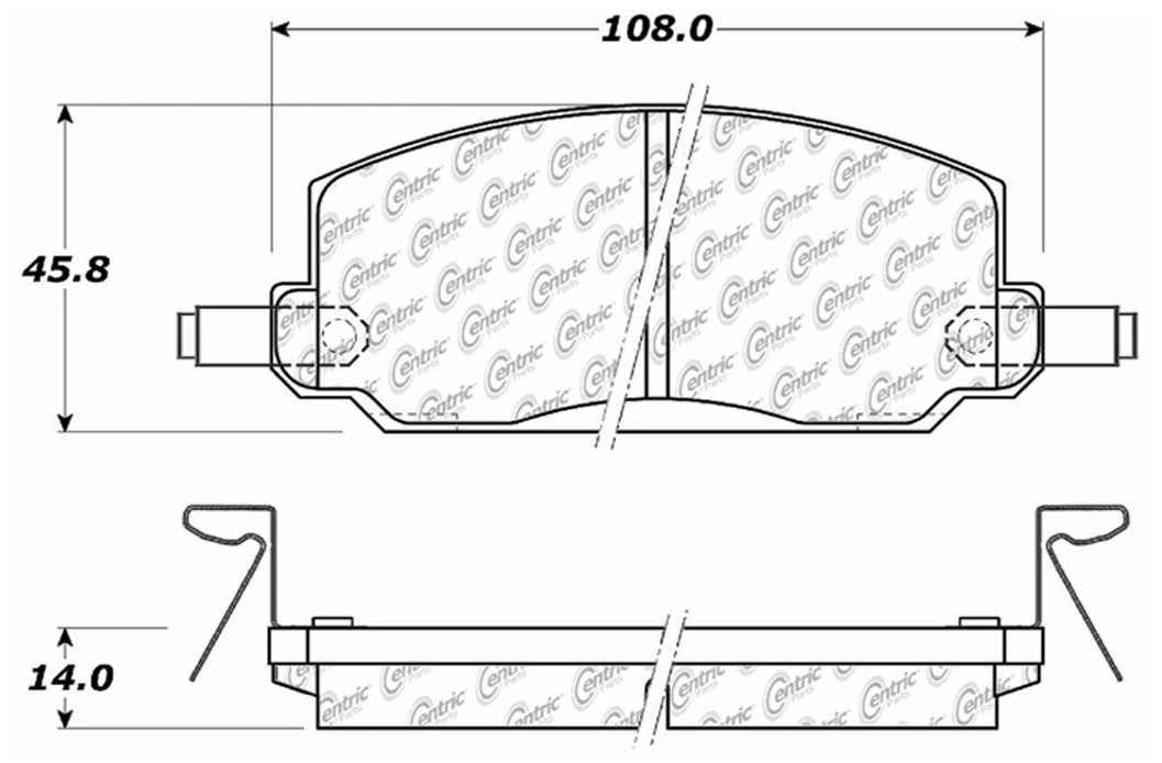 C-TEK BY CENTRIC - C-TEK Metallic Brake Pads-Preferred (Front) - CTK 102.02260