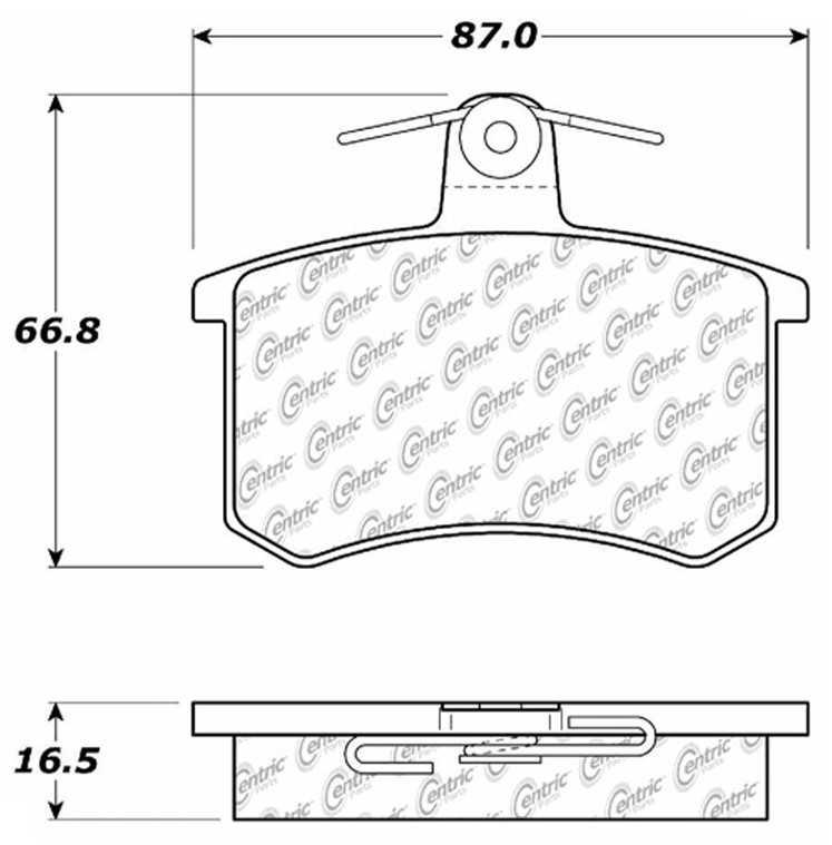 C-TEK BY CENTRIC - C-TEK Metallic Brake Pads (Rear) - CTK 102.02280
