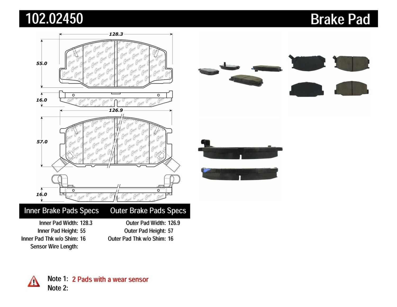 C-TEK BY CENTRIC - C-TEK Metallic Brake Pads (Front) - CTK 102.02450