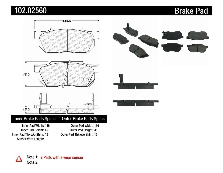 C-TEK BY CENTRIC - C-TEK Metallic Brake Pads (Front) - CTK 102.02560