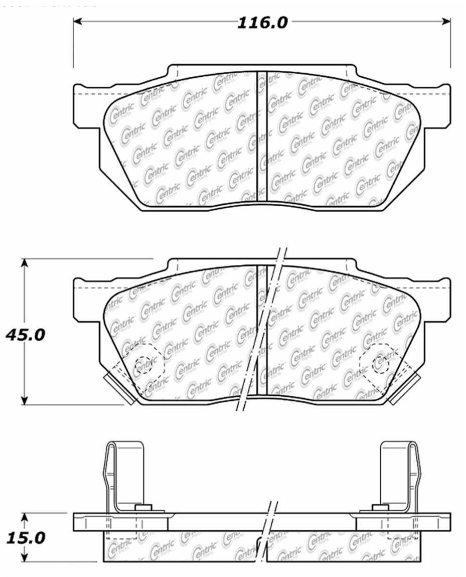 C-TEK BY CENTRIC - C-TEK Metallic Brake Pads - CTK 102.02560