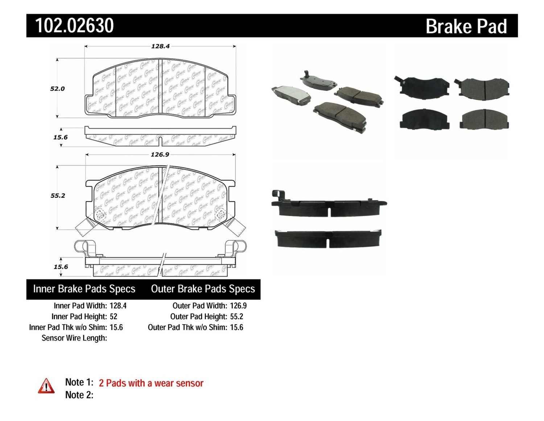 C-TEK BY CENTRIC - C-TEK Metallic Brake Pads (Front) - CTK 102.02630