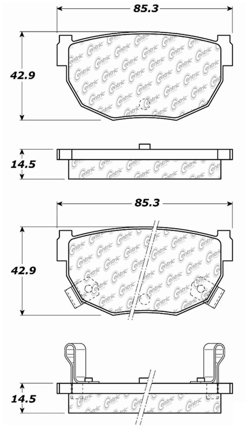 C-TEK BY CENTRIC - C-TEK Metallic Brake Pads (Rear) - CTK 102.02720