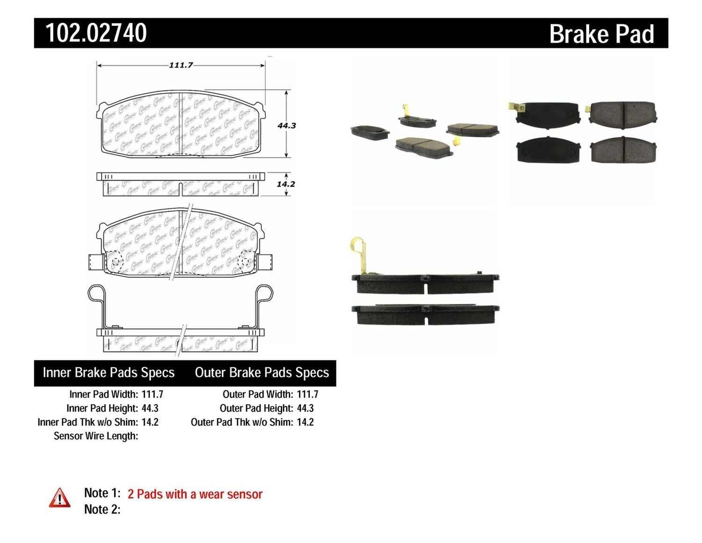 C-TEK BY CENTRIC - C-TEK Metallic Brake Pads - CTK 102.02740