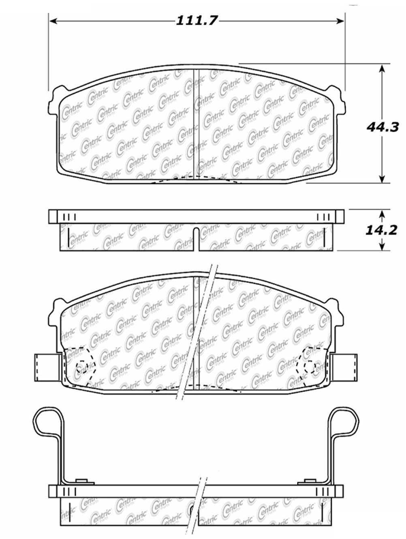 C-TEK BY CENTRIC - C-TEK Metallic Brake Pads (Front) - CTK 102.02740