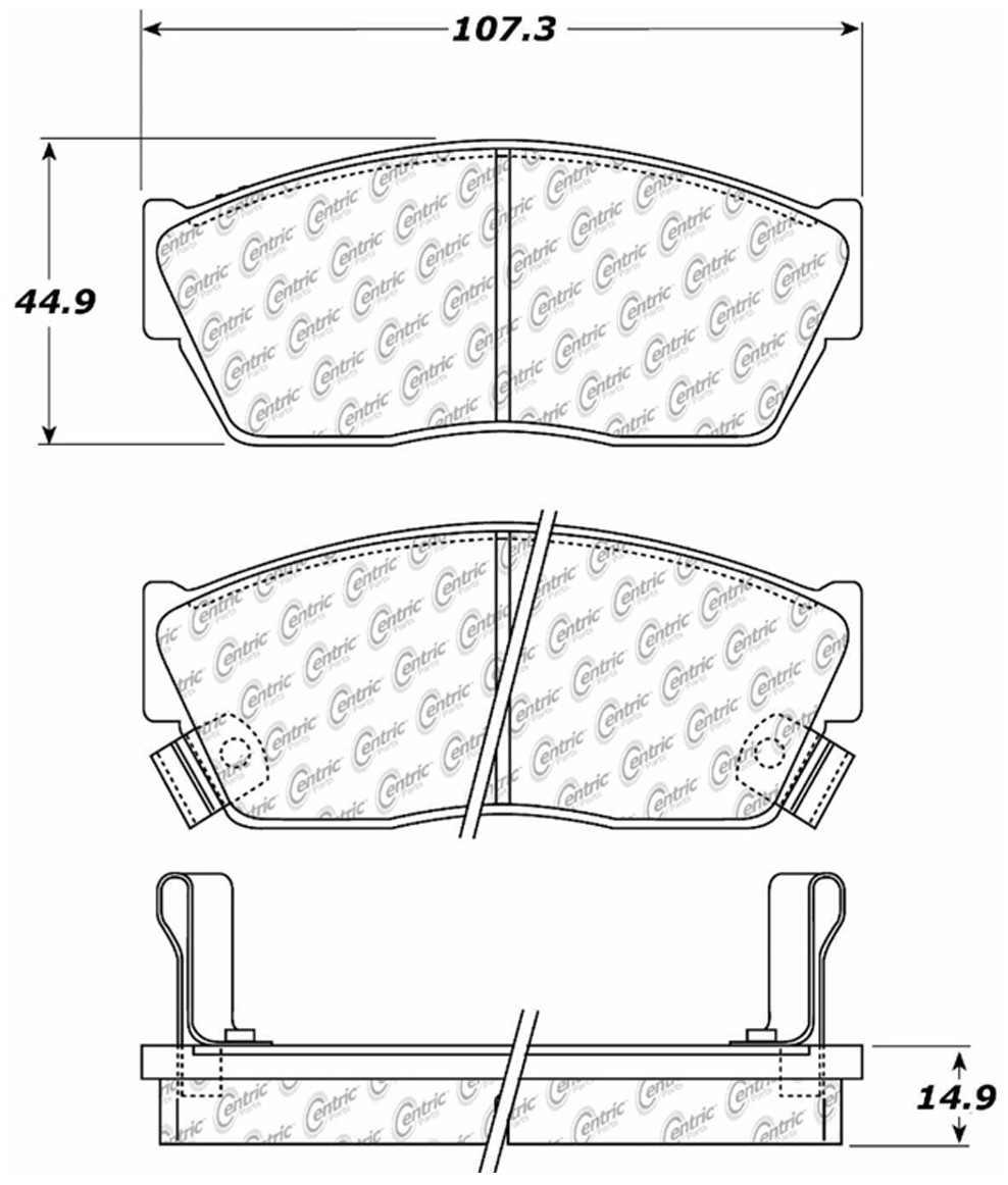 C-TEK BY CENTRIC - C-TEK Metallic Brake Pads (Front) - CTK 102.02760