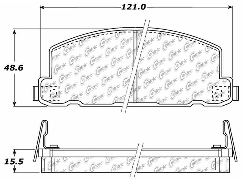 C-TEK BY CENTRIC - C-TEK Metallic Brake Pads-Preferred (Front) - CTK 102.02850