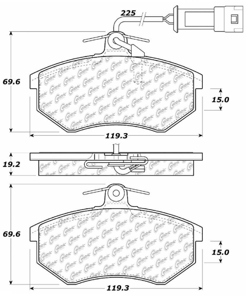 C-TEK BY CENTRIC - C-TEK Metallic Brake Pads (Front) - CTK 102.02900