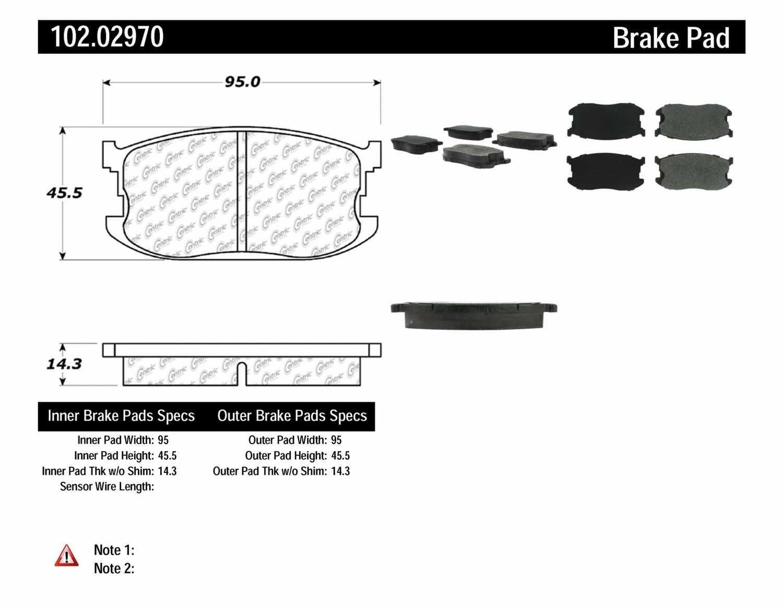 C-TEK BY CENTRIC - C-TEK Metallic Brake Pads-Preferred - CTK 102.02970