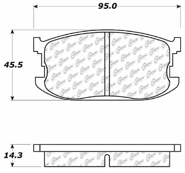 C-TEK BY CENTRIC - C-TEK Metallic Brake Pads-Preferred (Front) - CTK 102.02970