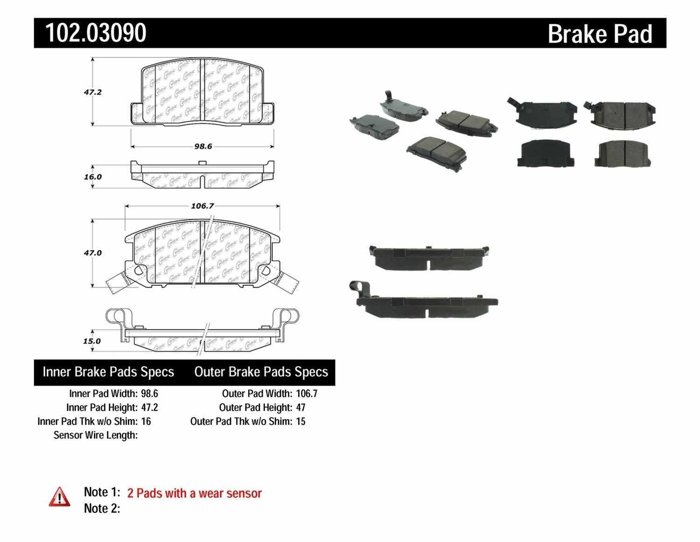 C-TEK BY CENTRIC - C-TEK Metallic Brake Pads - CTK 102.03090