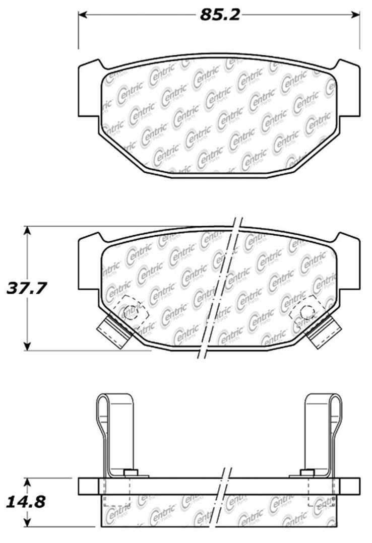 C-TEK BY CENTRIC - C-TEK Metallic Brake Pads-Preferred (Rear) - CTK 102.03140