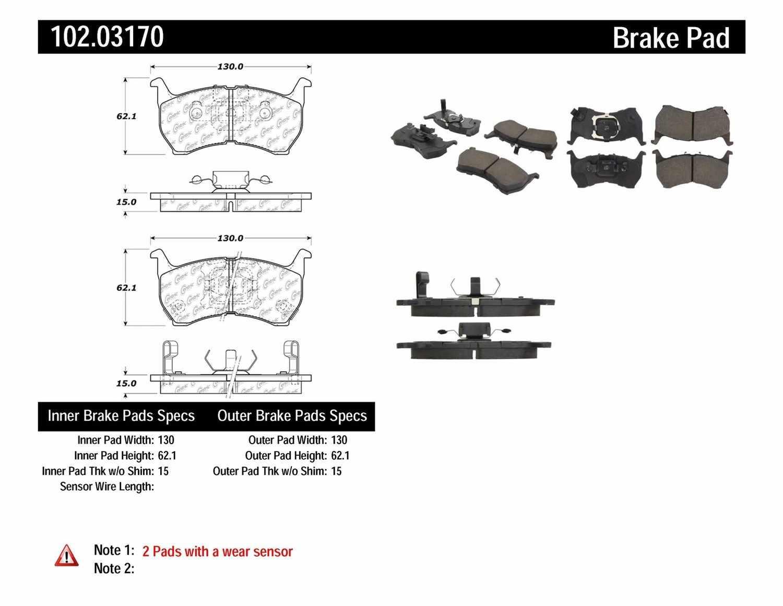 C-TEK BY CENTRIC - C-TEK Metallic Brake Pads-Preferred (Front) - CTK 102.03170