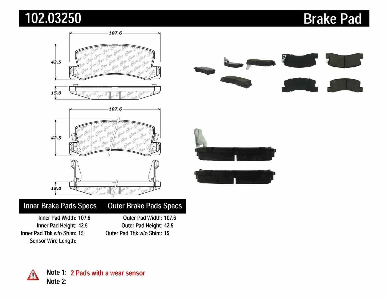 C-TEK BY CENTRIC - C-TEK Metallic Brake Pads - CTK 102.03250