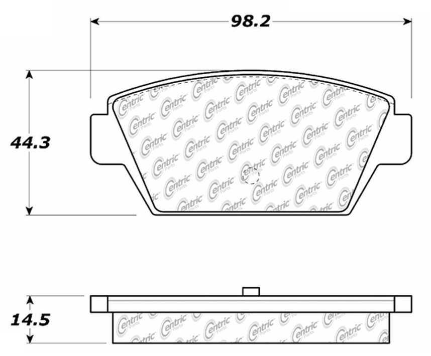 C-TEK BY CENTRIC - C-TEK Metallic Brake Pads (Rear) - CTK 102.03290