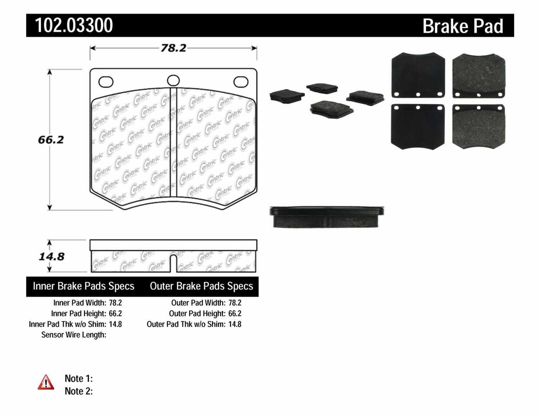 C-TEK BY CENTRIC - C-TEK Metallic Brake Pads - CTK 102.03300
