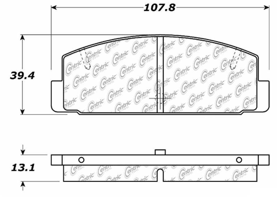 C-TEK BY CENTRIC - C-TEK Metallic Brake Pads (Rear) - CTK 102.03320