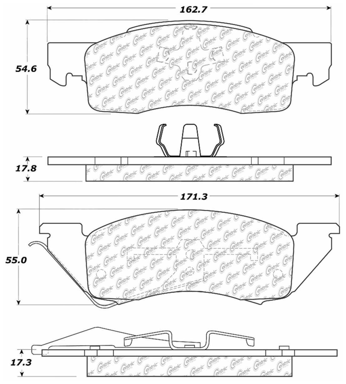C-TEK BY CENTRIC - C-TEK Metallic Brake Pads - CTK 102.03440