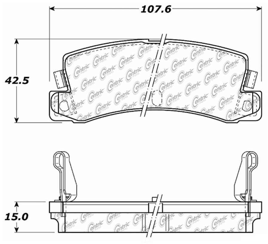 C-TEK BY CENTRIC - C-TEK Metallic Brake Pads (Rear) - CTK 102.03520