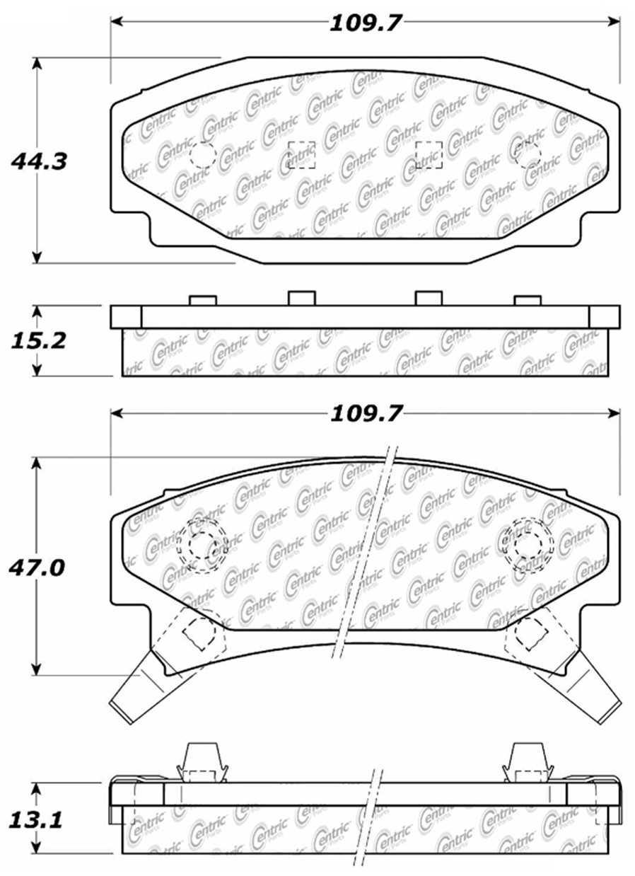 C-TEK BY CENTRIC - C-TEK Metallic Brake Pads (Rear) - CTK 102.03540