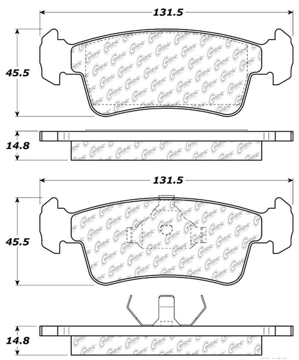 C-TEK BY CENTRIC - C-TEK Metallic Brake Pads (Front) - CTK 102.03590