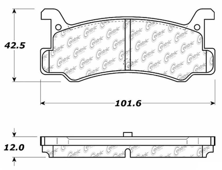 C-TEK BY CENTRIC - C-TEK Metallic Brake Pads-Preferred (Rear) - CTK 102.03660