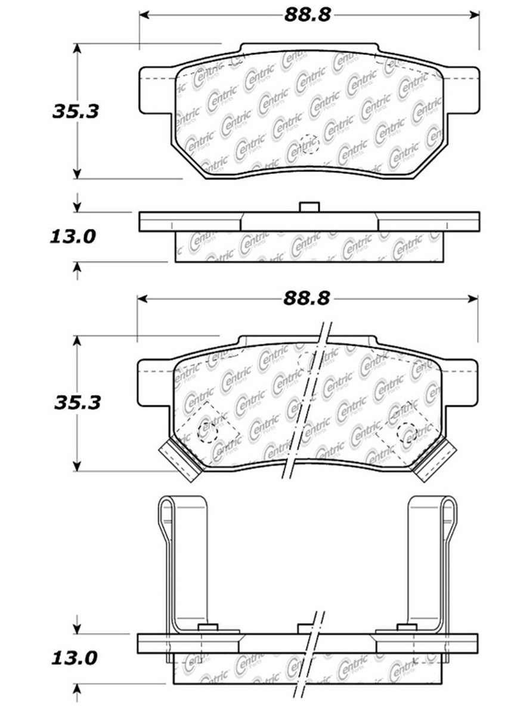 C-TEK BY CENTRIC - C-TEK Metallic Brake Pads (Rear) - CTK 102.03740