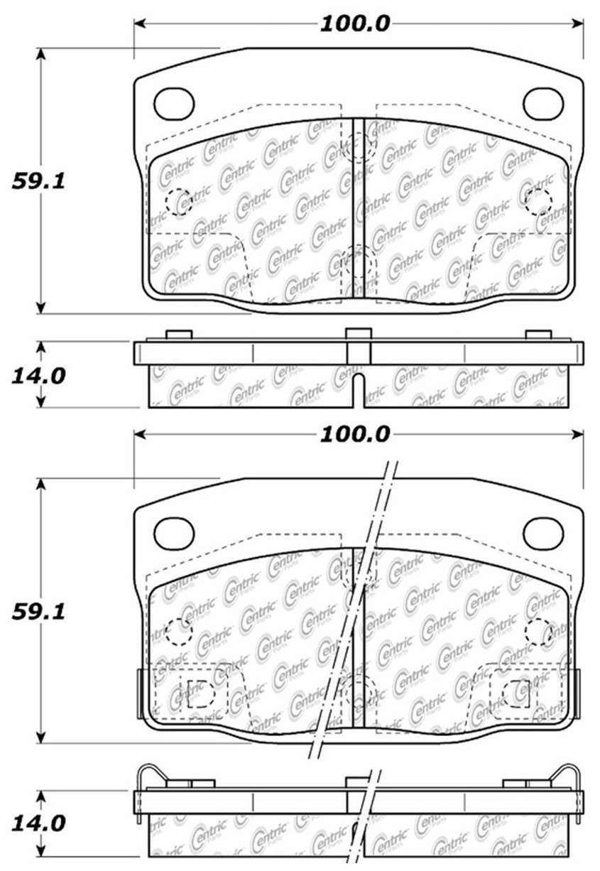 C-TEK BY CENTRIC - C-TEK Metallic Brake Pads-Preferred (Front) - CTK 102.03780